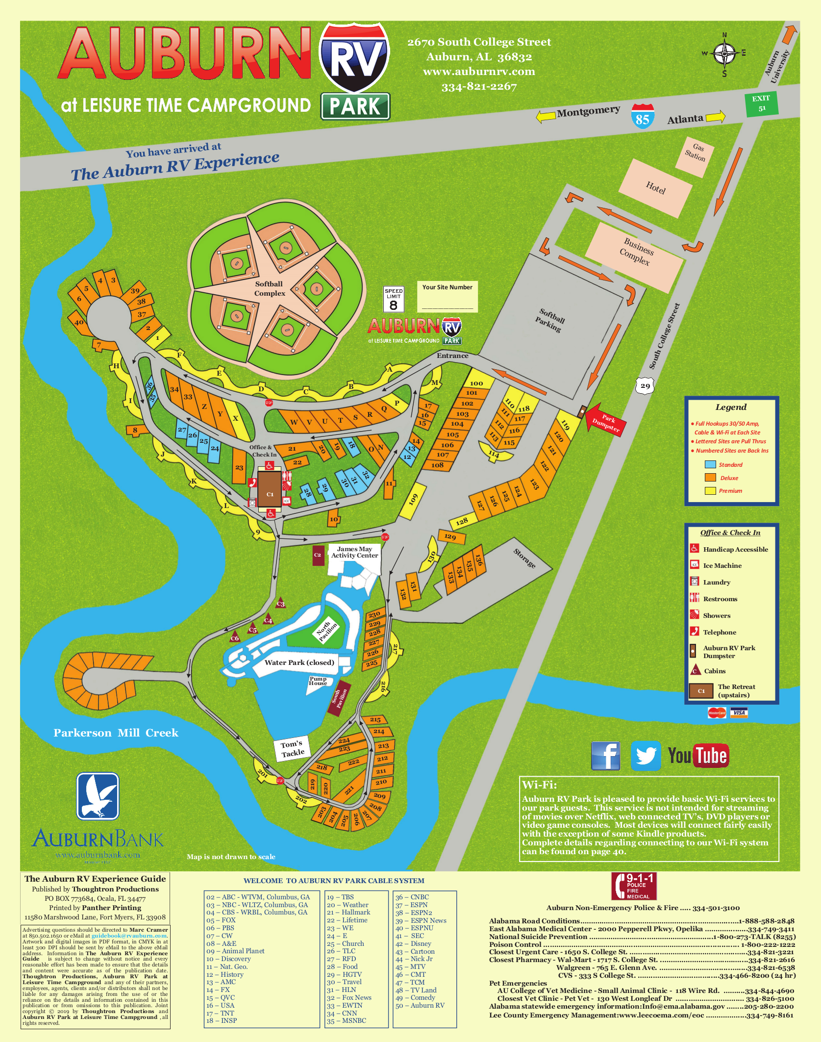 Auburn RV at Leisure Time Campground Map